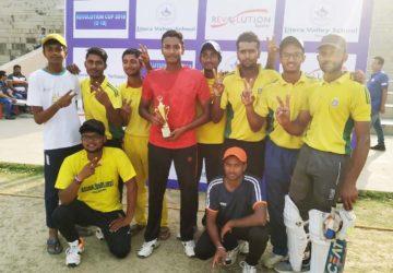 अनुआनंद स्कूल ऑफ क्रिकेट एकेडमी जीता