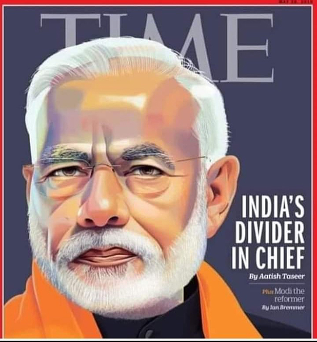Modi on Time magazine cover with controversial headline