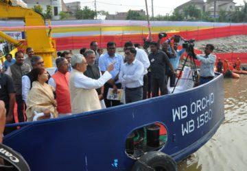 Bihar cm nitish kumar inspects ghats of Patna prior to chhath