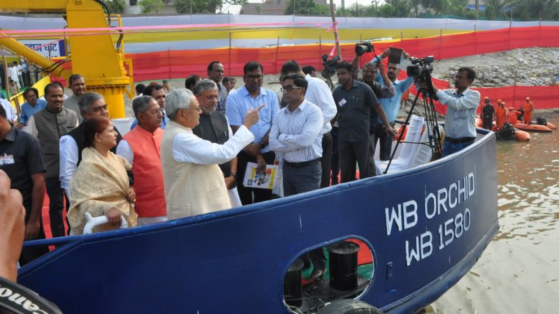 Bihar cm nitish kumar inspects ghats of Patna prior to chhath