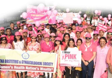 Pink walk by Lions Club of Pataliputra Aastha and Sun Hospital to create awareness on Breast cancer