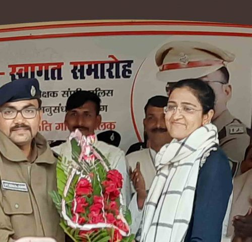 <b>DIG, Garima Mallick congratulated the new SSP and said that the Patna Police has found a better leader</b>