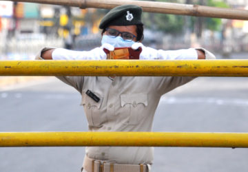 Law enforcing people under severe threats of Covid in Patna.  A sad reality check