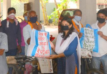 बिस्तार पटना की  रंगकर्मी उज्जवला गांगुली ने अखबार मित्रों का किया सम्मान