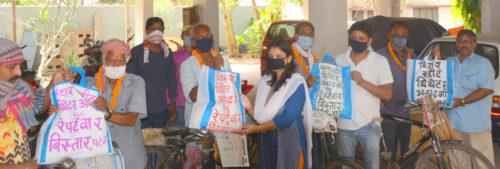 <b>बिस्तार पटना की  रंगकर्मी उज्जवला गांगुली ने अखबार मित्रों का किया सम्मान</b>