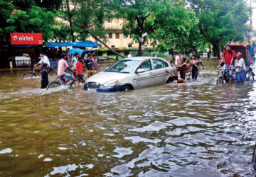 Patna  seems all set  to have islands in waterlogged city.