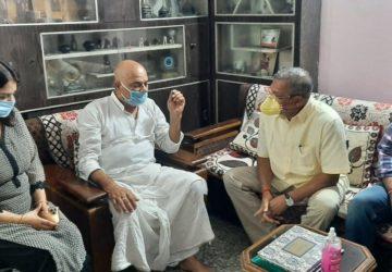 Actor Nana Patekar was in Patna on Sunday. He met the family members of Sushant Singh Rajput