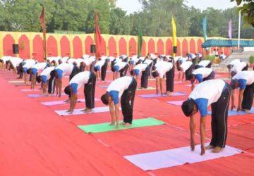 केन्द्रीय रिजर्व पुलिस बल में अंतर्राष्ट्रीय योग दिवस का आयोजन