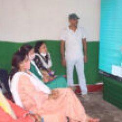 सैकड़ों छात्र व महिलाओं ने बड़े एल ई डी स्क्रीन पर सुनी मुख्यमंत्री का निश्चय संवाद