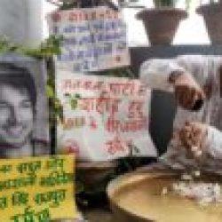 सिने अभिनेता सुशांत सिंह राजपूत // नमन करते हुए गंगा जल,जौ, तिल, चावल  फुल के साथ जलांजलि तर्पण अर्पित किया गया