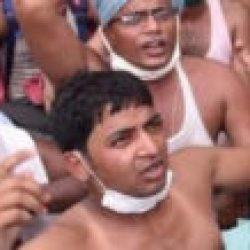 अमीन छात्रों ने  नीतीश सरकार के खिलाफ  अर्धनग्न प्रर्दशन किया , जल्द रिजल्ट निकले  पूर्व सांसद पप्पू यादव की  मांग